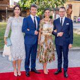 Federico y Mary de Dinamarca con Victoria y Daniel de Suecia en Estocolmo