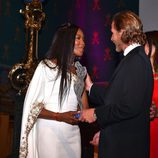 Naomi Campbell y Andrea Casiraghi en los MCFW Fashion Awards 2017