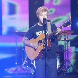 Manel Navarro imitando a Ed Sheeran en 'Tu cara no me suena'