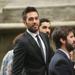 Dani Martínez y Julián López en la boda de Iker Muniain y Andrea Sesma en Bilbao