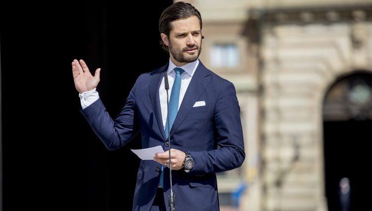 Carlos Felipe de Suecia en la apertura del Palacio Real por el Día Nacional de Suecia 2017