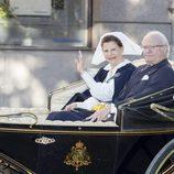 Los Reyes de Suecia en el Día Nacional de Suecia 2017