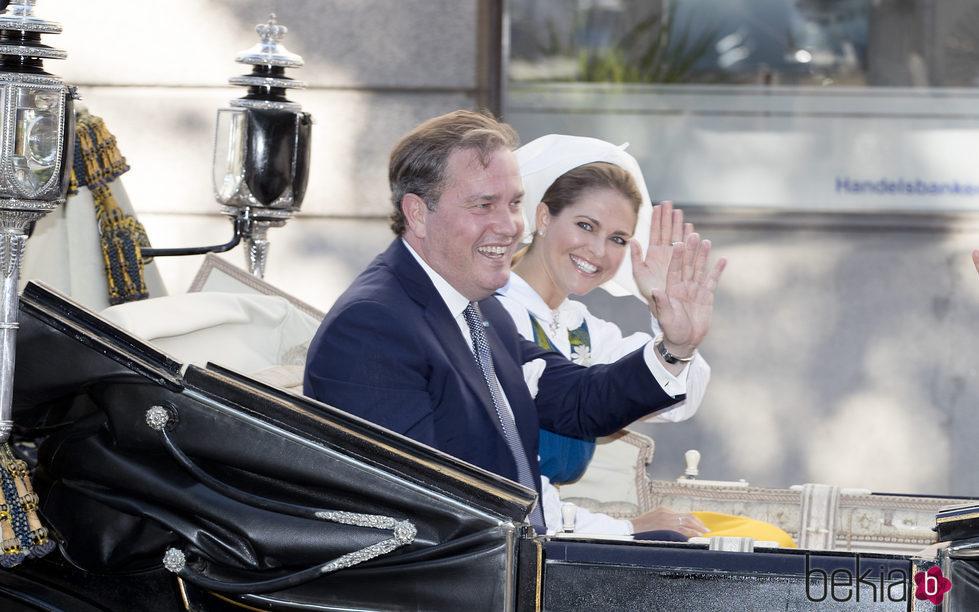 Magdalena de Suecia y Chris O'Neill en el Día Nacional de Suecia 2017