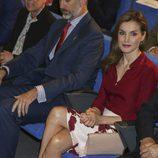 La Reina Letizia con moratones en un acto oficial en Navarra