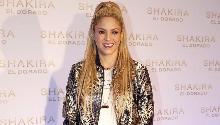Shakira en la presentación de su nuevo disco, 'El Dorado'