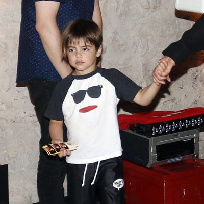 Milan Piqué en la presentación del disco de Shakira, 'El Dorado'