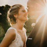 La romántica mirada entre Risto Mejide y Laura Escanes el día de su boda