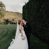 Risto Mejide y Laura escanes durante el día de su boda