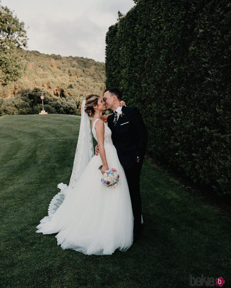 risto mejide y laura escanes durante el d a de su boda