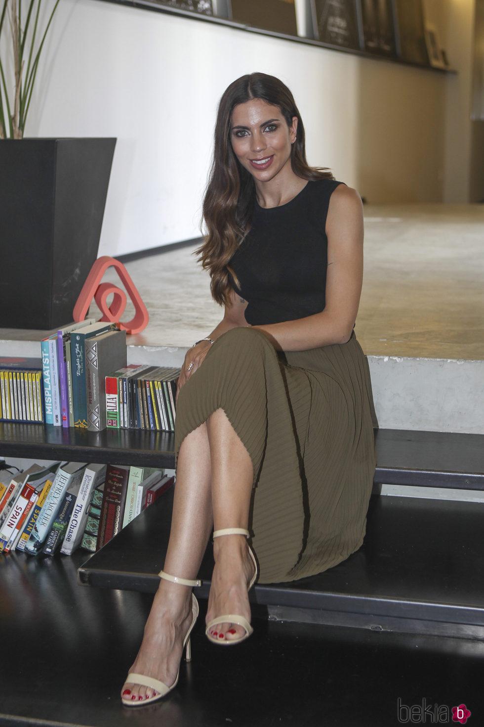 Melissa Jiménez en un acto publicitario cinco días antes de su boda con Marc Bartra