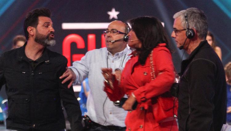 Aída Nízar en plena disputa con Mariano Navarro, el marido de Irma Soriano