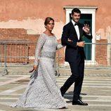 Álvaro Morata acompañado por su madre el día de su boda