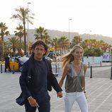 Carles Puyol y Vanesa Lorenzo en la fiesta preboda de Bartra y Melissa Jiménez