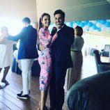 David Bustamante y Paula Echevarría bailando en la comunión de su hija Daniella