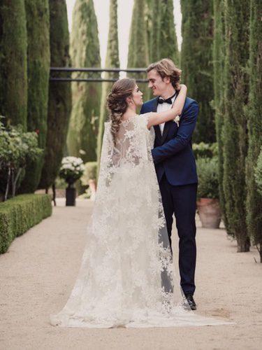 Antoine Griezmann y Erika Chperena recién casados