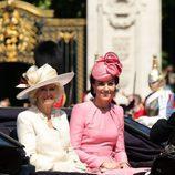 Kate Middleton y Camila Paker en la tradicional Trooping the Colour