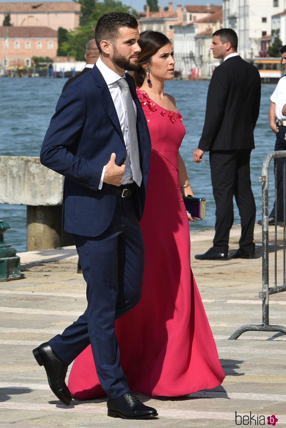 Nacho Fernández y María Cortés en la boda de Campello y Morata