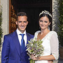 Lucas Vázquez y Macarena Rodríguez el día de su boda