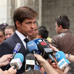 Julián López 'El Juli' en el funeral del torero Iván Fandiño