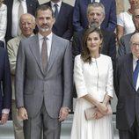 El Rey Felipe y la Reina Letizia celebrando tres años de reinado en el Museo del Prado