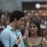 Froilán y Mar Torres-Fontes en el concierto de Taburete en un evento de moda