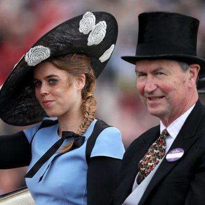 La Princesa Beatriz y Sir Timothy Laurence en Ascot 2017