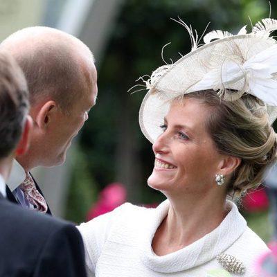 La Condesa de Wessex y Mike Tindall en Ascot 2017