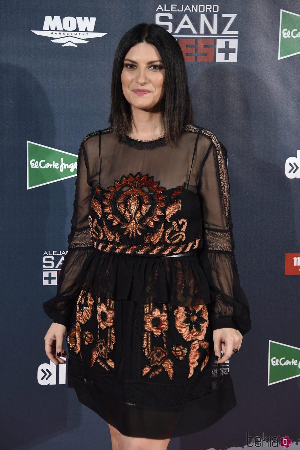 Laura Pausini en el concierto de Alejandro San 'Más es más' en Madrid