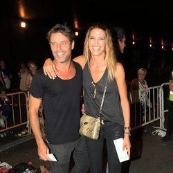 Laura Sánchez y David Ascanio llegando al concierto de Alejandro Sanz 'Más es más' en Madrid