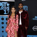Big Sean y Jhene Aiko en los premios BET 2017
