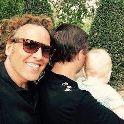 Torito con su marido y su hijo Nathan