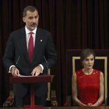 El Rey Felipe ofrece un discurso junto a la Reina Letizia en el acto del 40 aniversario de las primeras elecciones democráticas