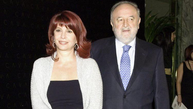 Cristina García Ramos con su marido Diego Carcedo
