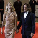 Carles Puyol y Vanesa Romero en la boda de Leo Messi y Antonella Roccuzzo