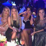 Vanesa Lorenzo, Shakira, Daniella Seeman y Nuria Cunillera en la boda de Messi y Antonella Roccuzzo