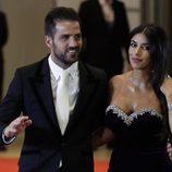 Cesc Fàbregas y Daniella Seeman en la boda de Leo Messi y Antonella Roccuzzo