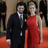 Luis Suárez y Sofía Balbi en la boda de Leo Messi y Antonella Roccuzzo