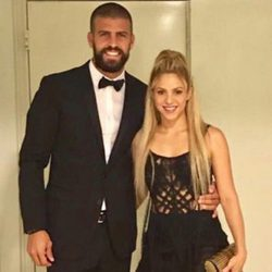 Gerard Piqué y Shakira en la boda de Antonella Roccuzzo y Leo Messi