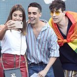 Dulceida, Javier Ambrossi y Javier Calvo en el World Pride 2017