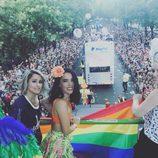 Barei, Betariz Luengo y Soraa Arnelas en la cabalgata de World Pride 2017