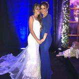 Antonella Roccuzzo con Elena Galera el día de su boda