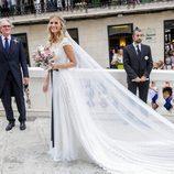 Almudena Cánovas llega a su boda con Sergio Llul