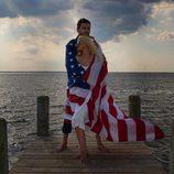 Christina Aguilera disfruta con su pareja de la fiesta del 4 de julio