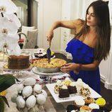 La actriz Sofía Vergara cocina para su familia en la fiesta del 4 de julio