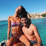 Álvaro Morata y Alice Campello surcando las aguas de Cerdeña