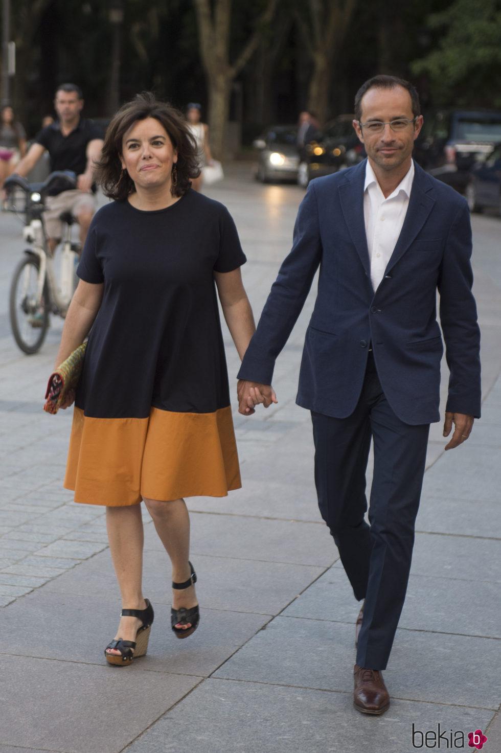Soraya Saenz de Santamaría y su marido asisten juntos al concierto de Sting en Madrid
