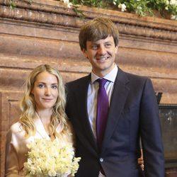 Ernst August de Hannover y Ekaterina Malysheva recién casados