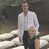 Soraya Arnelas con su pareja Miguel Ángel Herrera en una boda