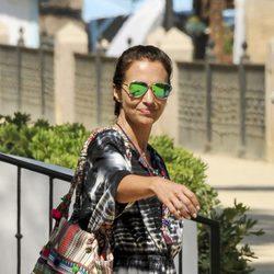 Paula Echevarría regresando a su hotel durante sus vacaciones en Marbella