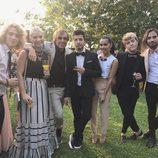 Manel Navarro, Beatriz Luengo, Blas Cantó, Soraya y Carlos Marco en una boda